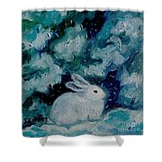 Little Bunny Foo Foo Shower Curtain