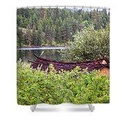 Little Cabin On A Lake Shower Curtain