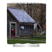 Little Cedar Shake Building Shower Curtain