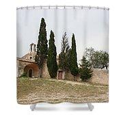 Little Chapel On A Hill Shower Curtain