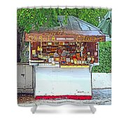 Little Cigar Shop Key West Shower Curtain