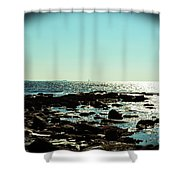 Little Compton Coast Shower Curtain