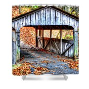 Little Covered Bridge II Shower Curtain