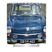 Little Cute  Blue Vintage Princess Austin Car  Shower Curtain