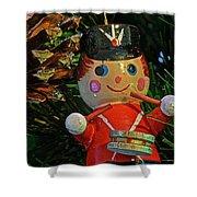Little Drummer Boy Ornament Shower Curtain