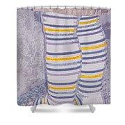 Little Feet-yellow Shower Curtain
