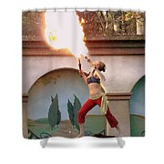 Little Fire Goddess Shower Curtain