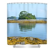 Little French Island In Maine Shower Curtain