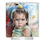 Little Girl From Tahiti Shower Curtain