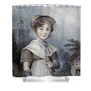Little Girl In A Quaker Costume Shower Curtain