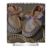Little Girls To Pearls Shower Curtain