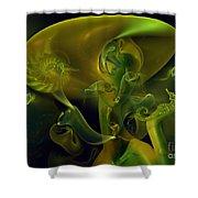 Little Green Seahorse  Shower Curtain