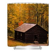 Little Greenbrier Schoolhouse In Autumn  Shower Curtain