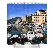 little harbor in Camogli Shower Curtain