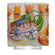Little Harvest Wagon Shower Curtain