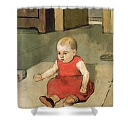 Little Hector On The Floor, 1889 Shower Curtain