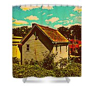 Little House - The World Around New York City Shower Curtain