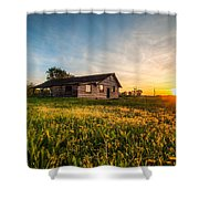 Little House On The Prairie Shower Curtain by Davorin Mance