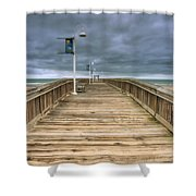 Little Island Pier Shower Curtain