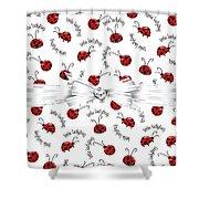 Little Ladybug Treats Shower Curtain