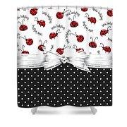 Little Ladybugs Shower Curtain