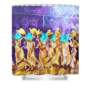Little League Victory - Game End Shower Curtain