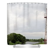 Little Lighthouse Shower Curtain