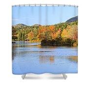 Little Long Pond And Bubbles Mount Desert Island Maine Shower Curtain