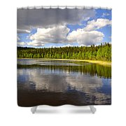 Little Lost Lake Shower Curtain
