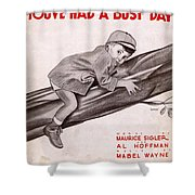 Little Man Youve Had A Busy Day Shower Curtain