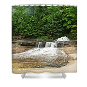 Little Miner Falls Shower Curtain