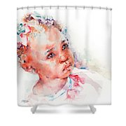 Little Miss Africa Shower Curtain