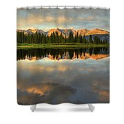Little Molas Lake At Sunset Shower Curtain