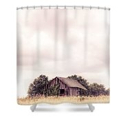 Little Old Barn In The Field - Ontario County New York State Shower Curtain