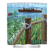 Little Palm Island Shower Curtain