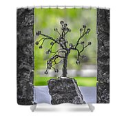 Little Pearl Tree II Shower Curtain