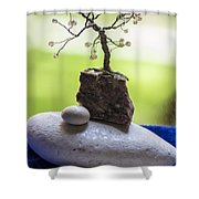 Little Pearl Tree Shower Curtain