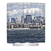 Little People In Big Places Shower Curtain