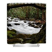 Little Pigeon River In The Smokies Shower Curtain