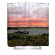 Little Pond Near The Ocean Panorama Shower Curtain