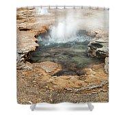 Little Pool Geyser At Black Sands Geyser Basin Shower Curtain