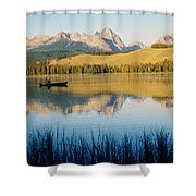 Little Red Fish Lake, Stanley, Idaho Shower Curtain