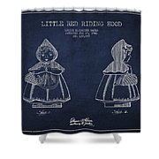 Little Red Riding Hood Patent Drawing From 1943 Shower Curtain by Aged Pixel