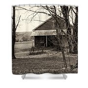 Little Red School House Shower Curtain
