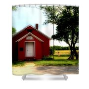 Little Red School House Shower Curtain by Kathleen Struckle