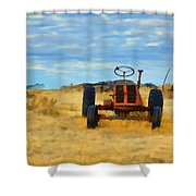 Little Red Tractor 4 Shower Curtain