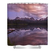 Little Redfish Lake Sunset Stanley Idaho Shower Curtain