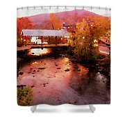 Little River Bridge At Sunset Gatlinburg Shower Curtain