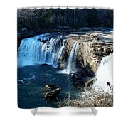Little River Falls Shower Curtain