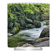 Little River Scenery E226 Shower Curtain